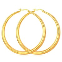 Hiphop Big Hoop Earrings - Gold, Silver