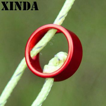 10pcs/lot Ultralight Circular Tents Awning Wind Rope Buckle Snap Ring Fixed Slide Adjustment Ring Rope Buckle AS0117