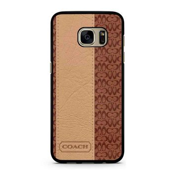 Coach New York Brown Leather Samsung Galaxy S7 Case