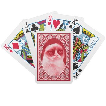 Grumpy Cat Fancy Cards Bicycle Poker Cards from Zazzle.com