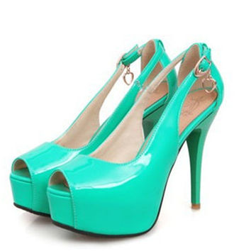 Spike High Heel women Platform Pumps