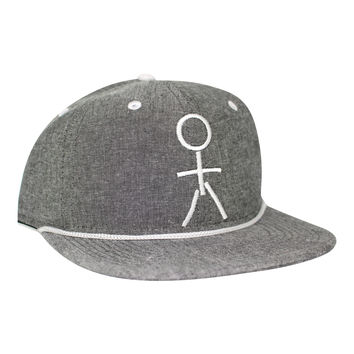 Stickman Snapback Gray Hat - Heather / White