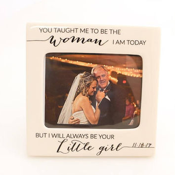 Wedding gift for parents of the bride,  wedding frame, can be personalized with date, father of the bride gift, gifts under 25