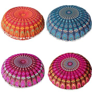 2018 Pillow covers decorative Large Mandala Floor Pillows Round Bohemian Meditation Cushion emoji Ottoman Pouf pillow