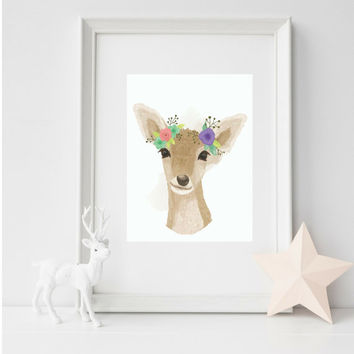 Kids WAll Art, Nursery Wall Art, Nursery Art, Wall Decor, Baby Room Decor, Print Wall Art, Deer Wall Art, Nursery, Baby Decor