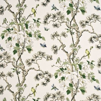 G P & J Baker Fabric BP10463.4 Tree Peony Cream/Ivory/Sand
