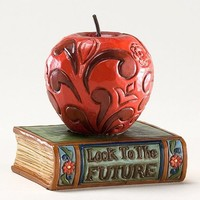 Enesco Jim Shore Heartwood Creek Mini Apple on Book Figurine, 2-1/2-Inch