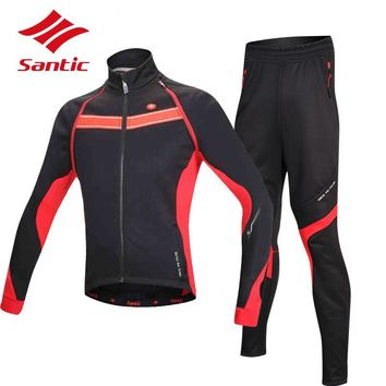 Men's Long-Sleeve Windproof Cycling Jacket & Pants