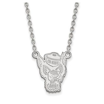 NCAA 14k White Gold North Carolina Large Pendant Necklace