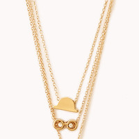 Quirky Face Necklace Set