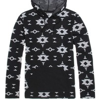 On The Byas Floater Jacquard Hooded Long Sleeve Shirt - Mens Shirt - Black