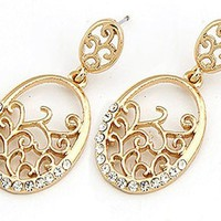 Vine and Sparkle Dangle Earrings (2 Colors Available)