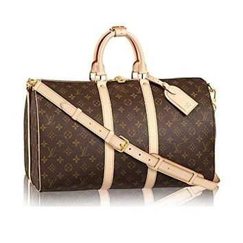 Louis Vuitton Monogram Canvas Cross Body Handle Keepall Bandouli¨¨re 45 Made in France