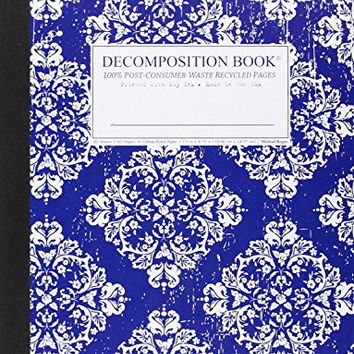 Victoria Blue Decomposition Book: College-ruled Composition Notebook With 100% Post-consumer-waste Recycled Pages