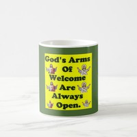 God's Arms Of Welcome Are Always Open. Coffee Mug