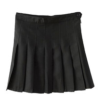 Black Pleated Mini Skirt - Choies.com