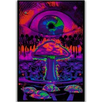 S1467 Trippy Magic  Mushrooms Eye Fantasy Mind Wall Art Painting Print On Silk Canvas Poster Home Decoration