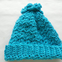Blue Baby Hat - Crochet