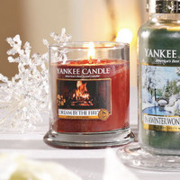 Winter Wonderland© Collection (Dream by the Fire©) : Footed Tumbler Candles : Yankee Candle