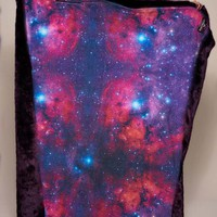 Luxe Midnight Wolf Limited Edition Galaxy Faux Fur Throw