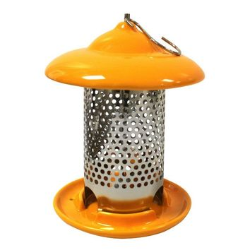 Heath™ 20144 Bird Stop Ceramic Feeder with 3-Feeding Ports, Orange