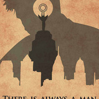 Booker Dewitt: Man, Lighthouse, City - Bioshock Infinite Inspired - Movie Poster Art