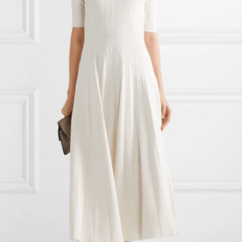 CASASOLA - Pleated stretch-knit midi dress