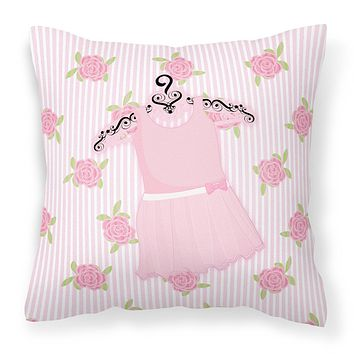 Ballerina Ballet Attire Fabric Decorative Pillow BB5158PW1818
