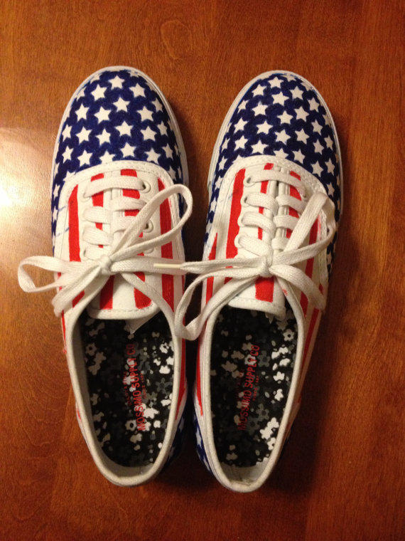 american flag canvas shoes from daniellegracedesigns on etsy