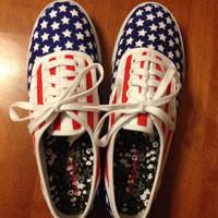 American Flag canvas shoes