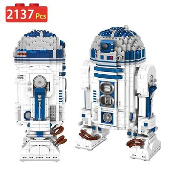 Star Wars Force Episode 1 2 3 4 5 Technic  Compatible LegoINGLYS UCS Robot Genuine Building Blocks Clone R2-D2 Robot Toy Gift for Kid  2137 Pcs AT_72_6