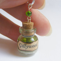 Gillyweed Bottle Necklace Pendant - Miniature Food Jewelry,Handmade Jewelry Necklace Pendant