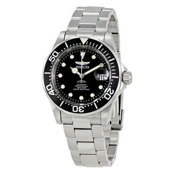 Invicta Pro Diver Automatic Black Dial Stainless Steel Mens Watch 17039