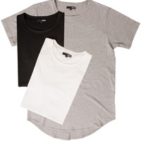Curved Hem Tall Tees - 3 Pack Mix Colors