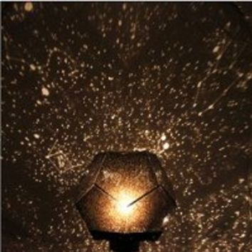 Hitop Projector Lights four seasons sky Nightlight Science Lamp Creative gift Romantic Constellation Stars galaxy Multicolor DIY (Yellow)