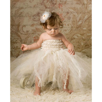 IVORY TULLE TUTU AND ROMPER COMBO-Backdrop Outlet