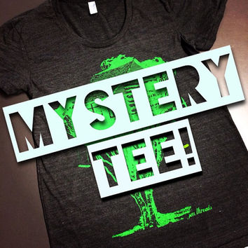 MYSTERY TEE! (ships free with another item) Mens or Women's tshirt tank v-neck - American Apparel