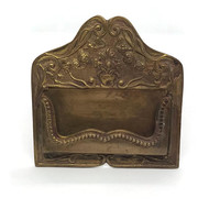 Business Victorian Style Brass Card Holder
