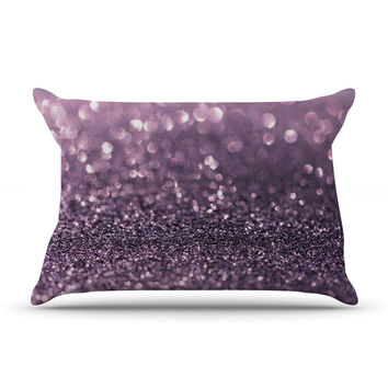 "Debbra Obertanec ""Lavender Sparkle"" Purple Glitter Pillow Case"