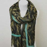 Camouflage Scarf -- Mint