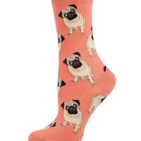 Socksmith Peach Pugs Socks