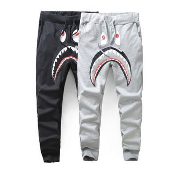 auguau sweatpants pants Bape Shark