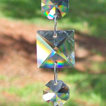 Crystal for Window Feng Shui, Hanging Crystal, Rainbow Suncatcher, Rainbow Maker, Window Sun Catcher, Rearview Mirror Charm