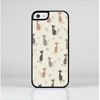 The Vintage Solid Cat Shadows Skin-Sert for the Apple iPhone 5c Skin-Sert Case
