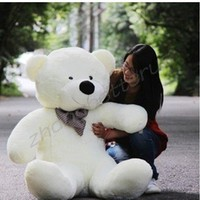 HOT! GIANT 100CM BIG CUTE Beige PLUSH TEDDY BEAR HUGE SOFT 100% COTTON TOY