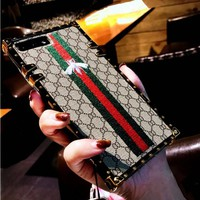 Fashion luxury Hot Gucci Bee Embroidery iPhone Phone Cover Case For iphone 6 6s 6plus 6s-plus 7 7plus