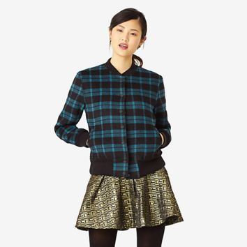 Kate Spade Saturday Team Jacket In Plaid