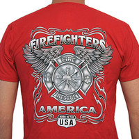 FireFighters America Fire Rescue USA T Shirt