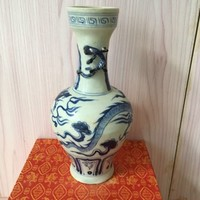 Dragon Blue and White Porcelain Vase Chinese Porcelain Chinaware