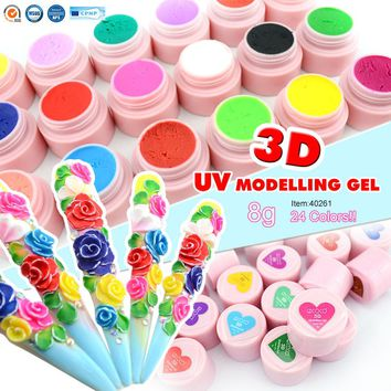 CANNI 3D/4D Modeling Stereoscopic Carve Factory Nail Art Design GDCOCO Soak off UV LED 8g Nail Painting 3D Sculpture Color Gel